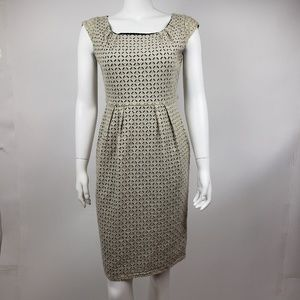 CALVIN KLEIN Tan Eyelet Dress Size 6